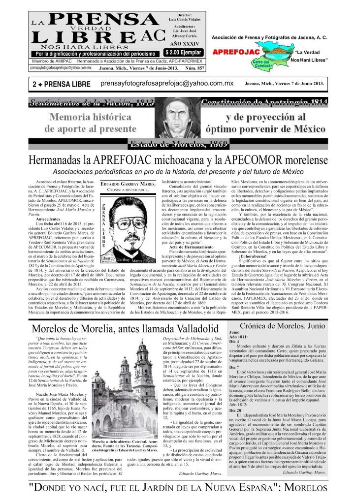 PrensaLibre No.857 7Junio2013 Pagina2 APREFOJAC