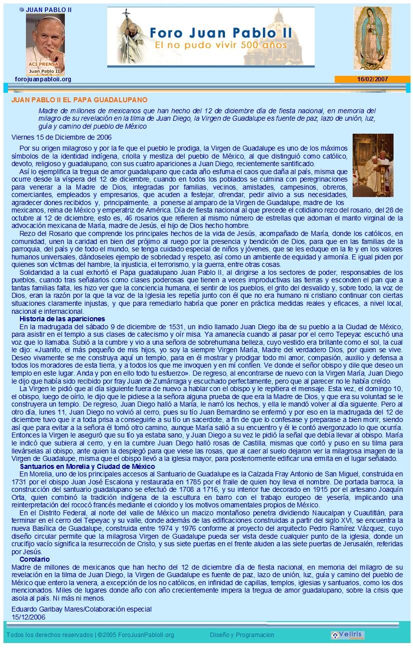 México guadalupano, de Eduardo Garibay Mares, en el Foro Juan Pablo II