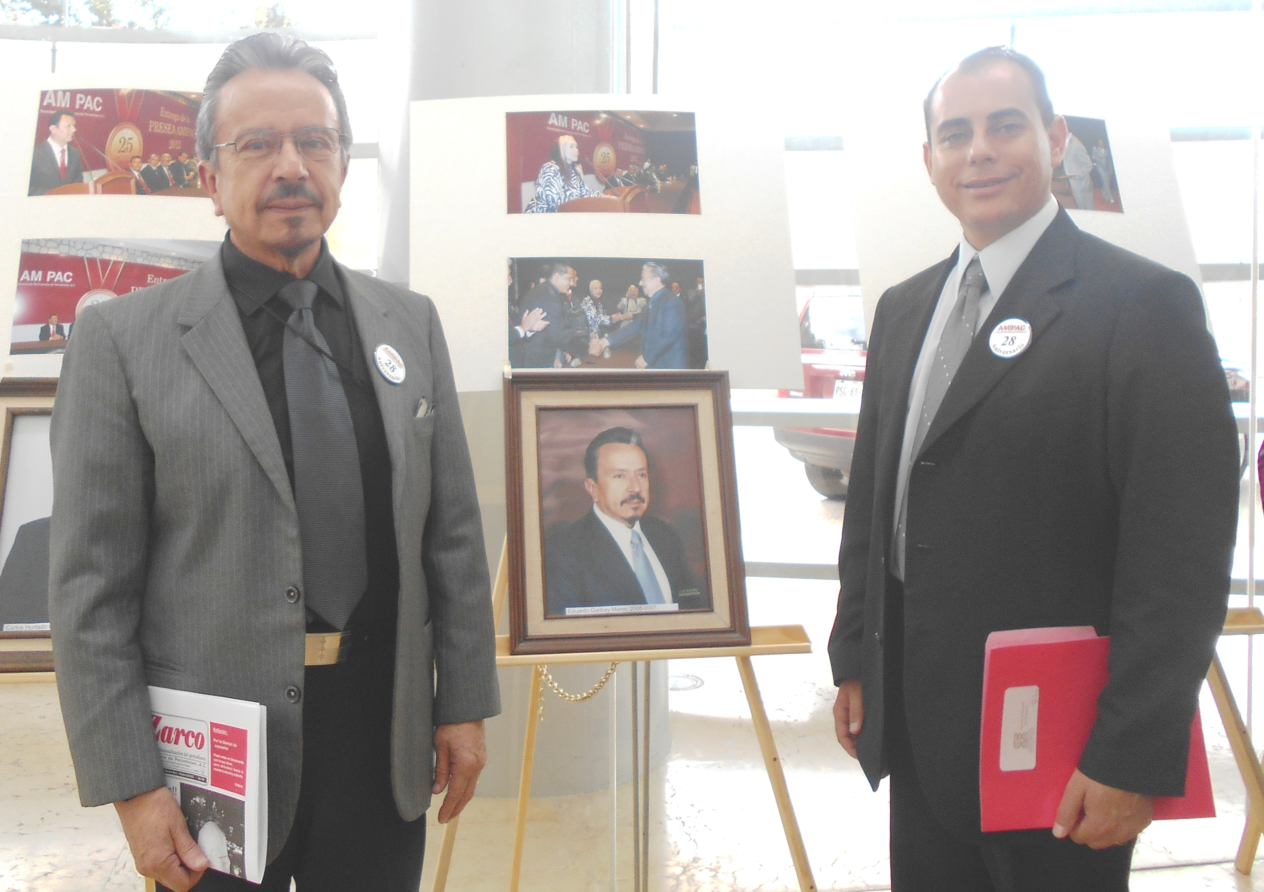 Eduardo Garibay Mares y Miguel Angel Cuenca Hernández Secretario General de AMIPAC