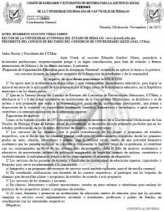 Propuesta de Capacitación Educativa para la Asistencia Nacional, a integrantes del Consorcio de Universidades Mexicanas, CUMex