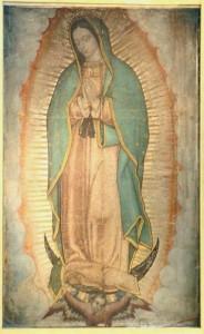 María Santísima de Guadalupe. Milagrosa imagen venerada en la Insigne y Nacional Basílica de Santa María de Guadalupe, del cerro del Tepeyac