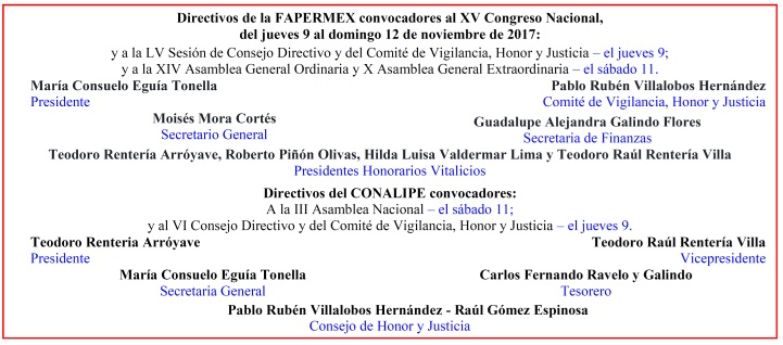 Directivos de la FAPERMEX y del CONALIPE